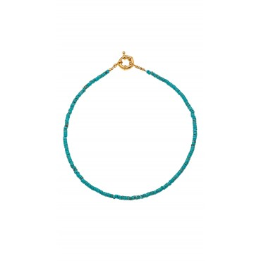 Collier St Barth Perles Turquoise