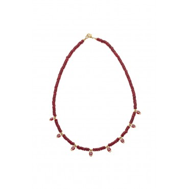 collier 7 eyes corail bambou