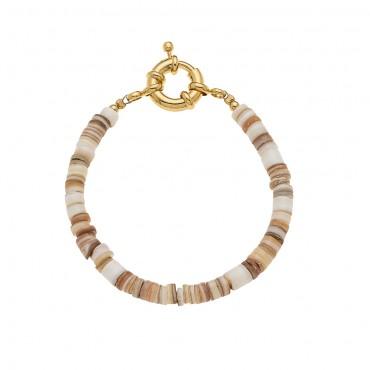Bracelet St Barth Perles Coquillage Naturel