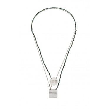 Scapulaire Perles Amour/Infini Turq. Nat.
