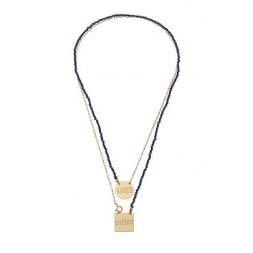 Scapulaire Perles Amour/Infini Lapis