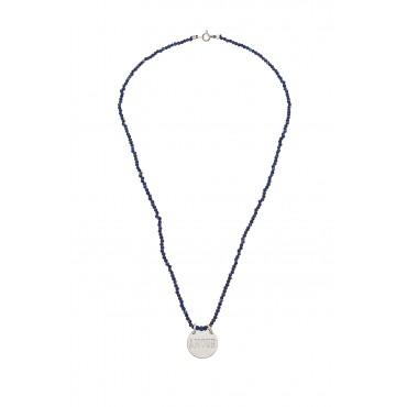 Collier infini perles lapis