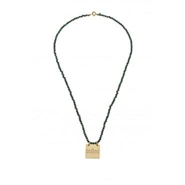 Collier Perles Infini Turq. Naturelle