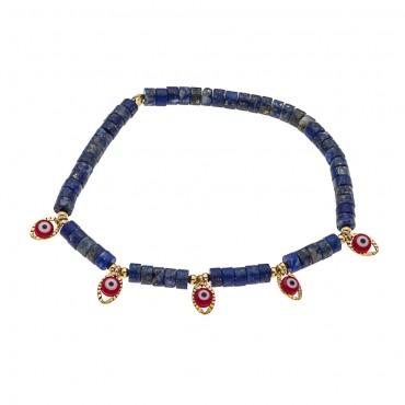 bracelet 5 eyes lapis