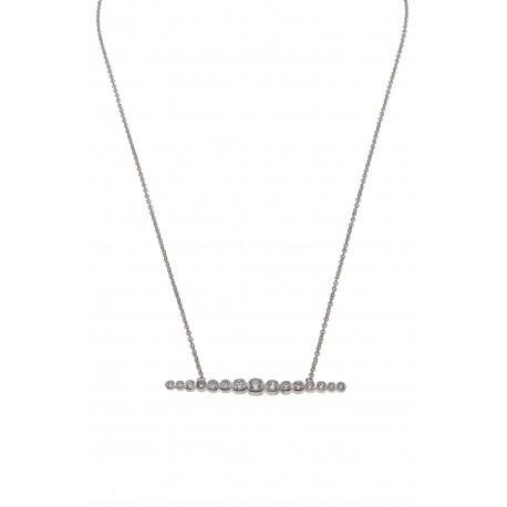 Collier ligne zirconium
