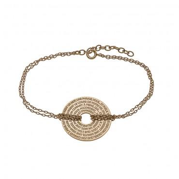 Bracelet Médaille Disque Hugo 2