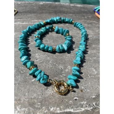 Bracelet charms médaille coeur