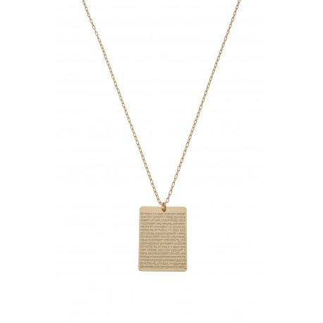 Collier Médaille Plaque Hugo 2