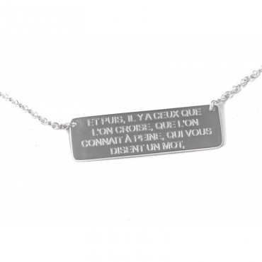 Collier plaque hugo 2