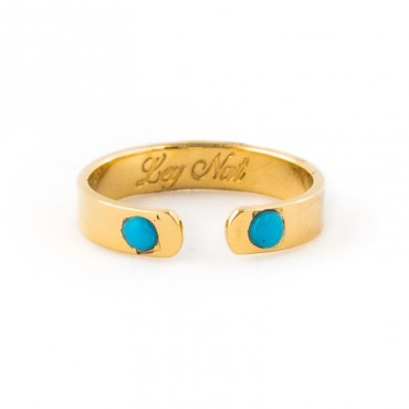 Bague 2 turquoises
