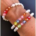 Bracelet perles alphabet
