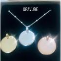 Bracelet charms médaille strass